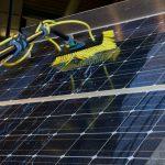 pannello fotovoltaico lavato